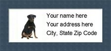 """Rottweiler Return Address Labels  - Personalized """"BUY 3 GET ONE FREE"""""""