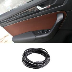 5M Carbon Fiber Texture Modification Mouldings Door Panel Edge Dashboard Strip