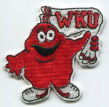 "WESTERN KENTUCKY WKU HILLTOPPERS NCAA COLLEGE 2.25"" TEAM PATCH"