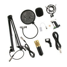 1 Set Condenser Microphone Mic Wind Mask Shield XLR Cable for Broadcasting