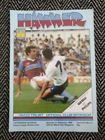 West Ham v Tottenham Spurs 1983 Programme 31/12/83! FREE UK POSTAGE! LAST ONE!!!