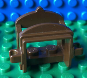 LEGO Horse Saddle with Two Clips 4491b Brown Accessory Castle Western