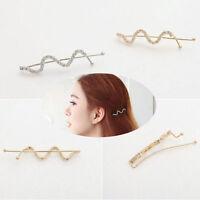 Fashion Girl Lady Rhinestone Twist Wave Hair Clip Barrette Hairpin Pin Jewelry