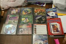 Lot of 10 CD rom games for window and  books and plastic game holder