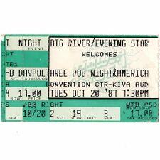THREE DOG NIGHT & AMERICA Concert Ticket Stub ALBUQUERQUE NM 10/20/87 KIVA Rare
