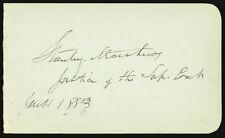 STANLEY MATTHEWS - SIGNATURE(S) 01/11/1883