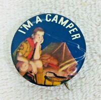 """I'm A Camper Scouting Pinback Button 1 1/4""""  T4"""