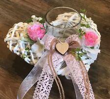 schöne Hochzeitsdeko Vintage Windlicht Herz TD0098