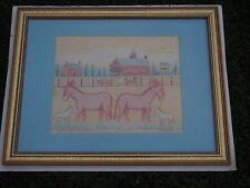 JACK SAVITSKY ORIGINAL FOLK ART PASTEL DRAWING SILVER CREEK MULE STABLE 1984