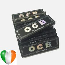 10 OCB BLACK Premium Regular Smoking Cigarette Rolling Tobacco Ultra Thin Papers