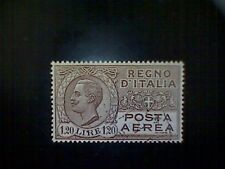 Stamps, Italy, Scott #C7, used(o), 1927 air mail, King Victor Emanuel Iii, 1.20L