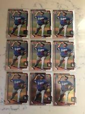(9) 2015 Bowman Jose DeLeon 3 Chrome BCP62 6 Paper Dodgers Mint Free CombS&H