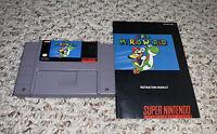 Super Mario World (Super Nintendo SNES) w/ Manual Tested Authentic