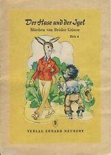 La liebre y el erizo cuentos de hadas de Grimm obleas este álbum de la RDA completamente 1957