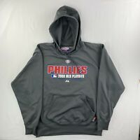 Phillies 2008 MLB Playoffs Majestic Authentic Collection XL Hoodie Sweatshirt