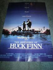 THE ADVENTURES OF HUCK FINN(1993)ELIJAH WOOD ORIGINAL ONE SHEET POSTER+