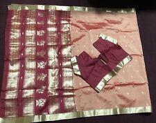 Bollywood Indian Pakistani Ethnic Party Wear Silk Saree Sari with blouse