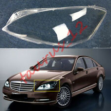 Left Side Headlight Cover Clear PC + Glue For Mercedes Benz S-Class 2008-2012