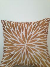 Leaf Print Art Beige Light Brown Very Soft Pillow Cushion Cover Outdoor Indoor
