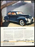 1939 Lincoln Zephyr V12 Vintage Advertisement Print Art Car Ad Poster LG81