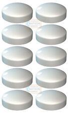 Confezione Da 10-BIANCO Plastidome 2 PEZZI plactic CUPOLA TAPPO A VITE Copertura Protettore