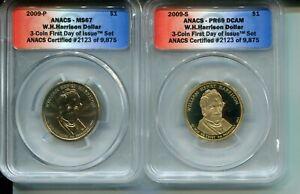 2009-P/S W.H. Harrison Presidential Dollar - ANACS MS67/PR69 DCAM