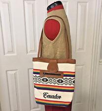 Ecuador Tote Purse Handbag Custom Made South American Design Unique Rare