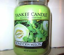 "Yankee Candle ""HONEYDEW MELON"" Fruit ~  Large 22 oz. RARE & VHTF~WHITE LABEL~NEW"