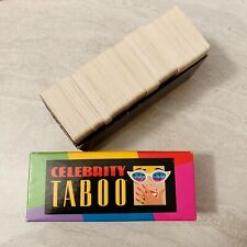 Celebrity Taboo CARDS Replacement Game Part Piece Card Box Milton Bradley
