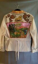 Loft womens jacket- hand painted by seller pre-owned- color beige   size L