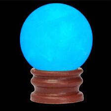 Delicate Glow In Dark Quartz Crystal Ball Blue Luminous 3.5cm 60g + BASE Gift