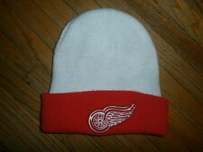 DETROIT RED WINGS WINTER HAT Snow Ski Knit Sewn Embroidered Logo NHL Hockeytown