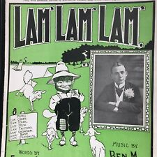 1900 Black Americana antique sheet music Lam' Lam' Lam' West's Minstrel Jubilee