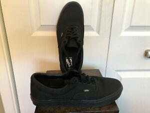 Vans Era Casual Sneaker (Black) in Men's 10.5