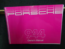 PORSCHE 944 OWNERS MANUAL 85/1 BRAND NEW GENUINE PORSCHE AND IN STOCK 944 OWNERS