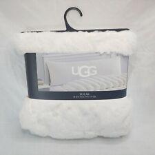 UGG Polar Body Pillow Cover 20x54 Plush Snow White Soft Cozy Feel New