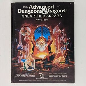 Advanced Dungeons and Dragons Unearthed Arcana Hardcover Book *Read Description*