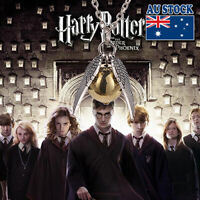 Harry Potter Quidditch Wings Golden Snitch Pendant Necklace Gold & Silver