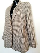 Brown Vintage Hounds tooth Suit Jacket Blazer 90s Medium 12 14 brown
