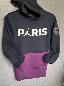 New Nike x Air Jordan x Paris Saint Germain Bordeaux Hoodie Boys S(8-10)