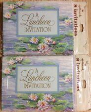 Lot of 2 Vintage Luncheon Invitation Hallmark Greeting Card Packs 16 Cards