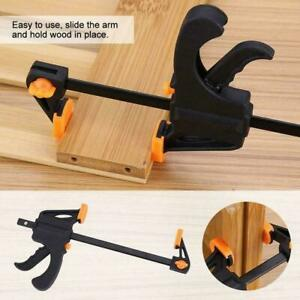 Woodworking Clip Bar Clamp F-tyle Grip Quick Ratchet Tools Release Squeeze B3Y3