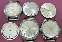 6 Elgin Men Wrist Watch New Old Stock Cases and Dials