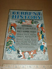 New York Times History Magazine rare Nov 1917 China Japan WWI Manchu restoration