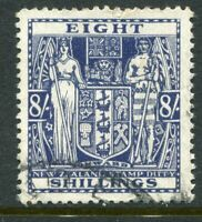 NEW ZEALAND....  1931-56 Arms   8/- blue   used