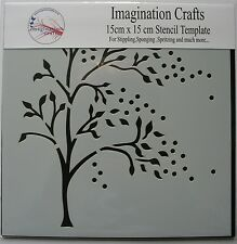 "Imagination Crafts STENCIL mask  template 6"" x 6"" (15cm ) WINDY TREE"