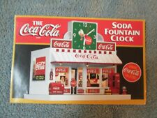 Danbury Mint Brochure Coke Soda Fountain Clock