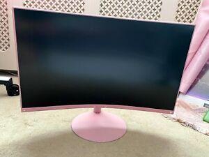 "Samsung T55 24"" VA LCD Curved PC Gaming Monitor - Custom Pink!"