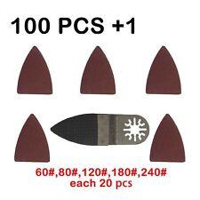 101 Pcs Oscillating Tool Finger Sanding Paper sanding pad for Fein ,Bosch,Dremel