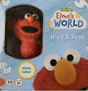 Sealed Interactive Elmo's World Sesame Street Hide & Seek Card Game Talking Elmo